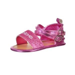 bebe Baby Infant Girls Pink Sparkle Sandals Shoes